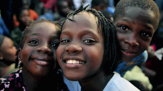 foto de niños de Haití