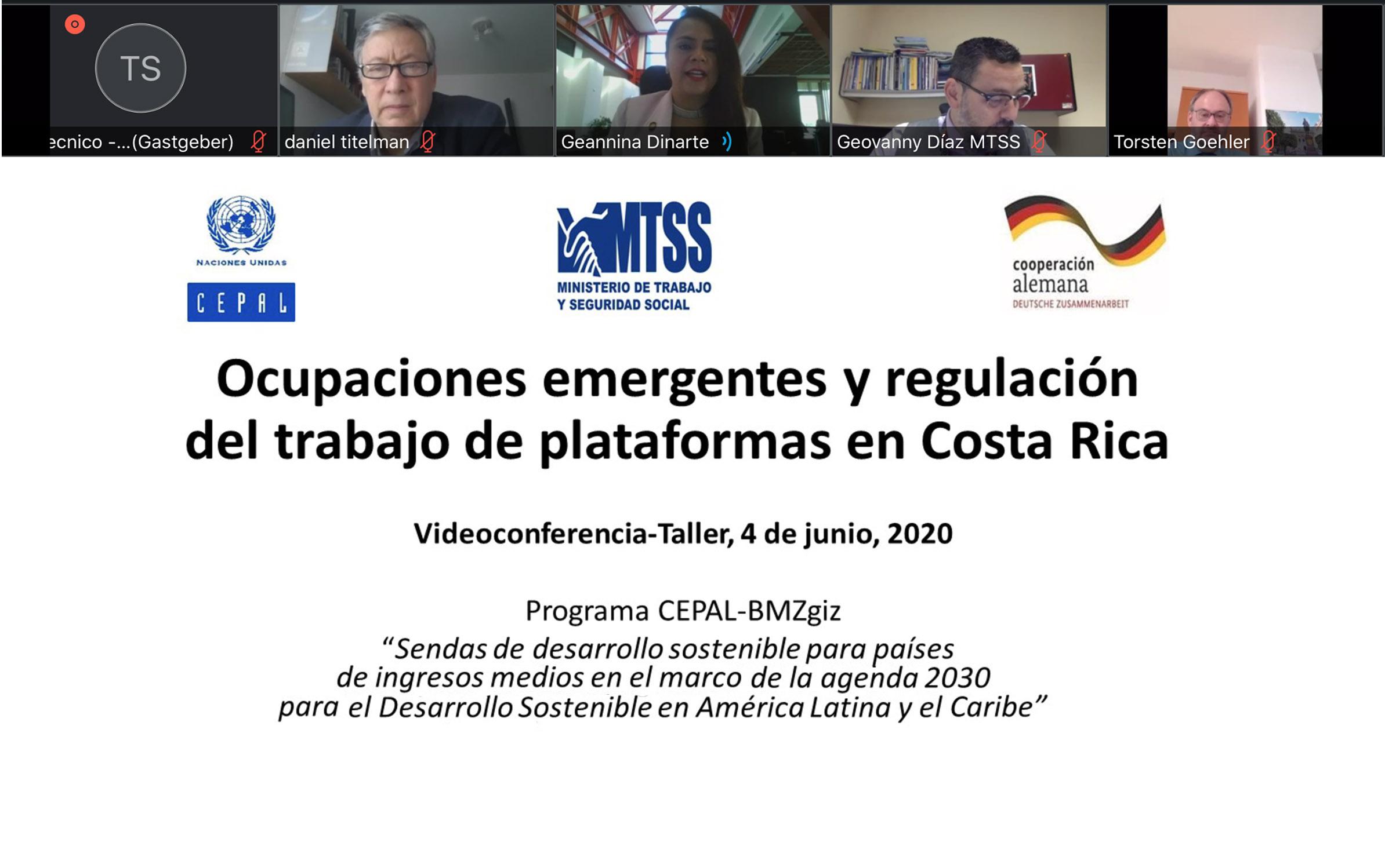 Ocupaciones emergentes y regulación del trabajo de plataformas -mg