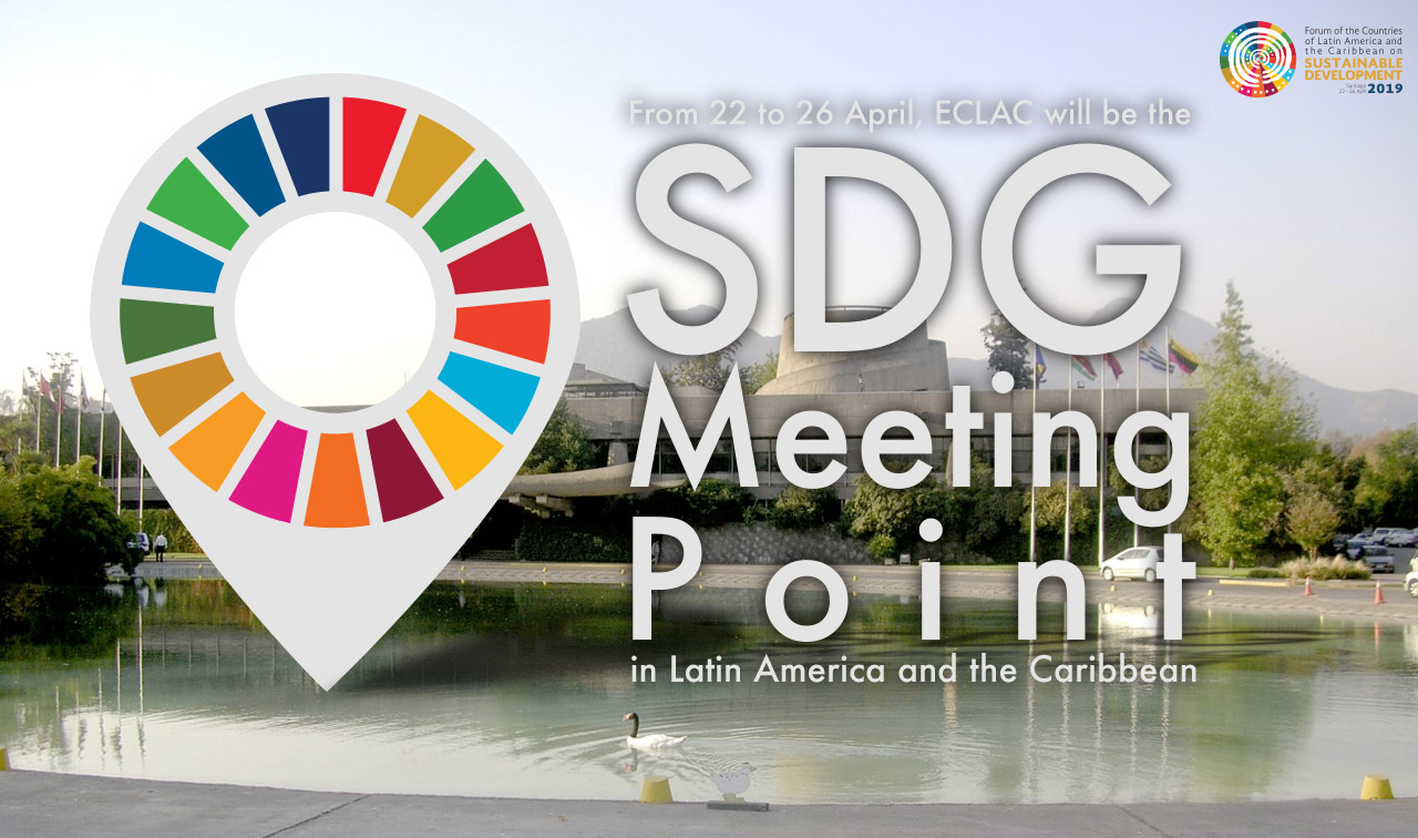 Banner ECLAC as SDG Meeting Point for Sustainable Development