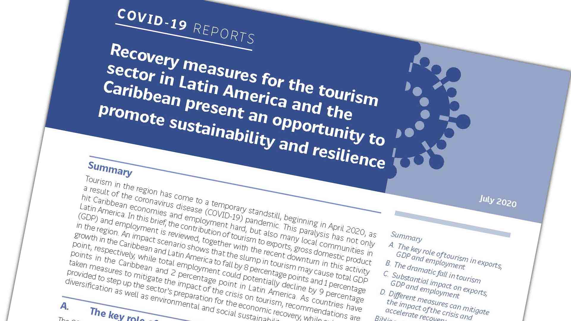 Cover Tourism sector COVID-19 report