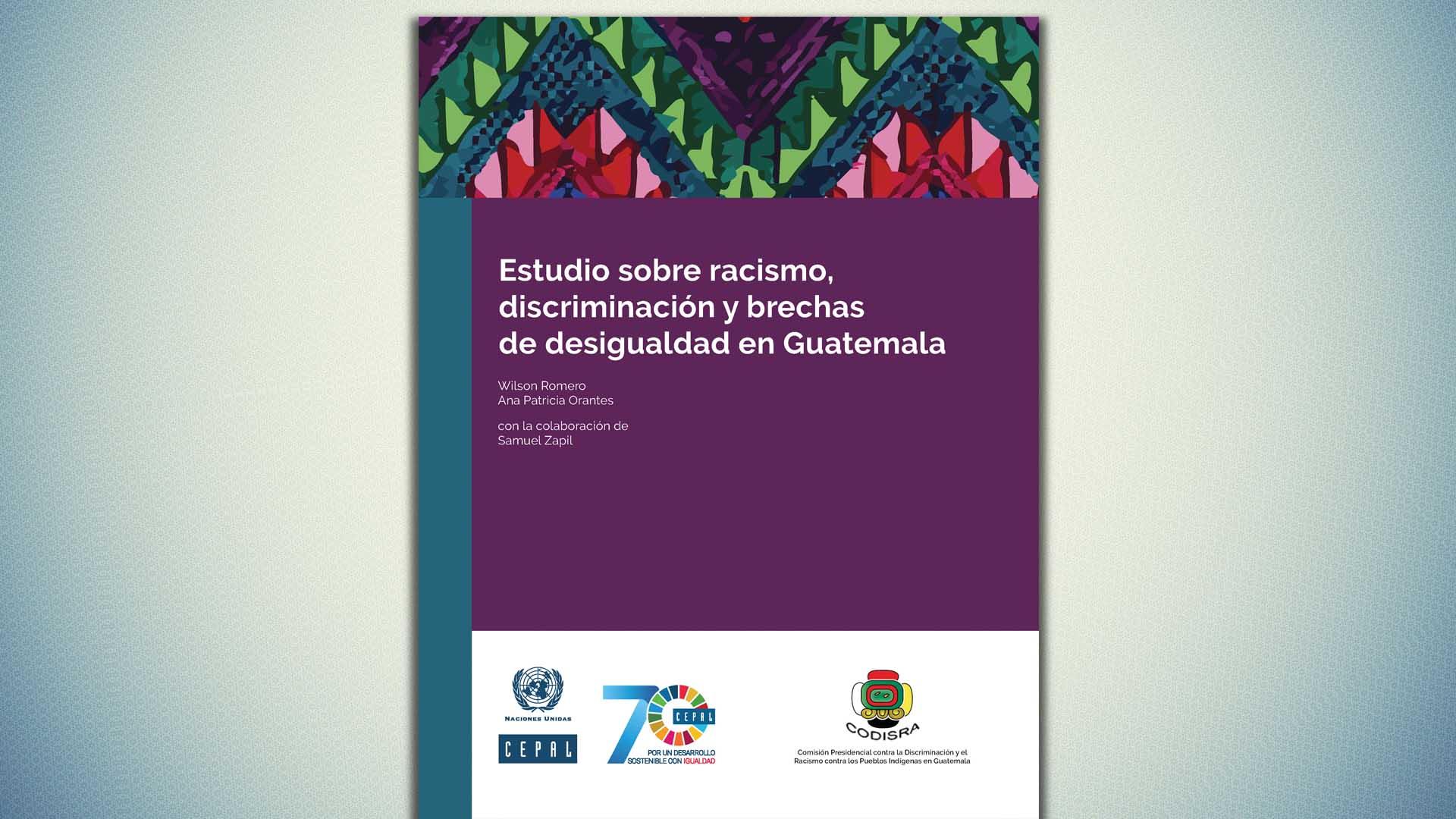 Portada documento racismo en Guatemala