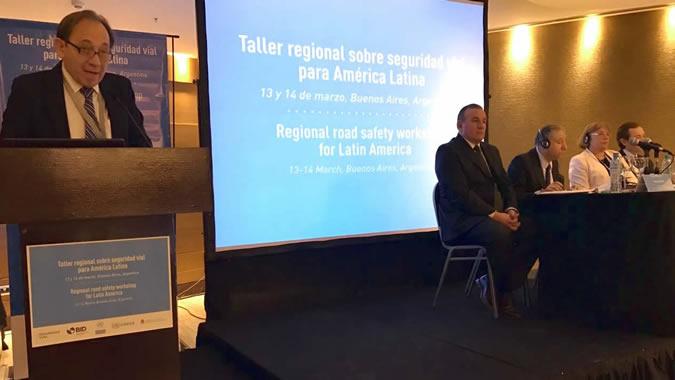 Ricardo Sánchez, de la CEPAL en evento de seguridad vial