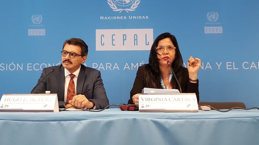 Virginia Cartaya, Directora de Estudios y Propuestas de la Secretaría Permanente del SELA.Hugo Beteta, Director de la Sede Subregional de la CEPAL en México.