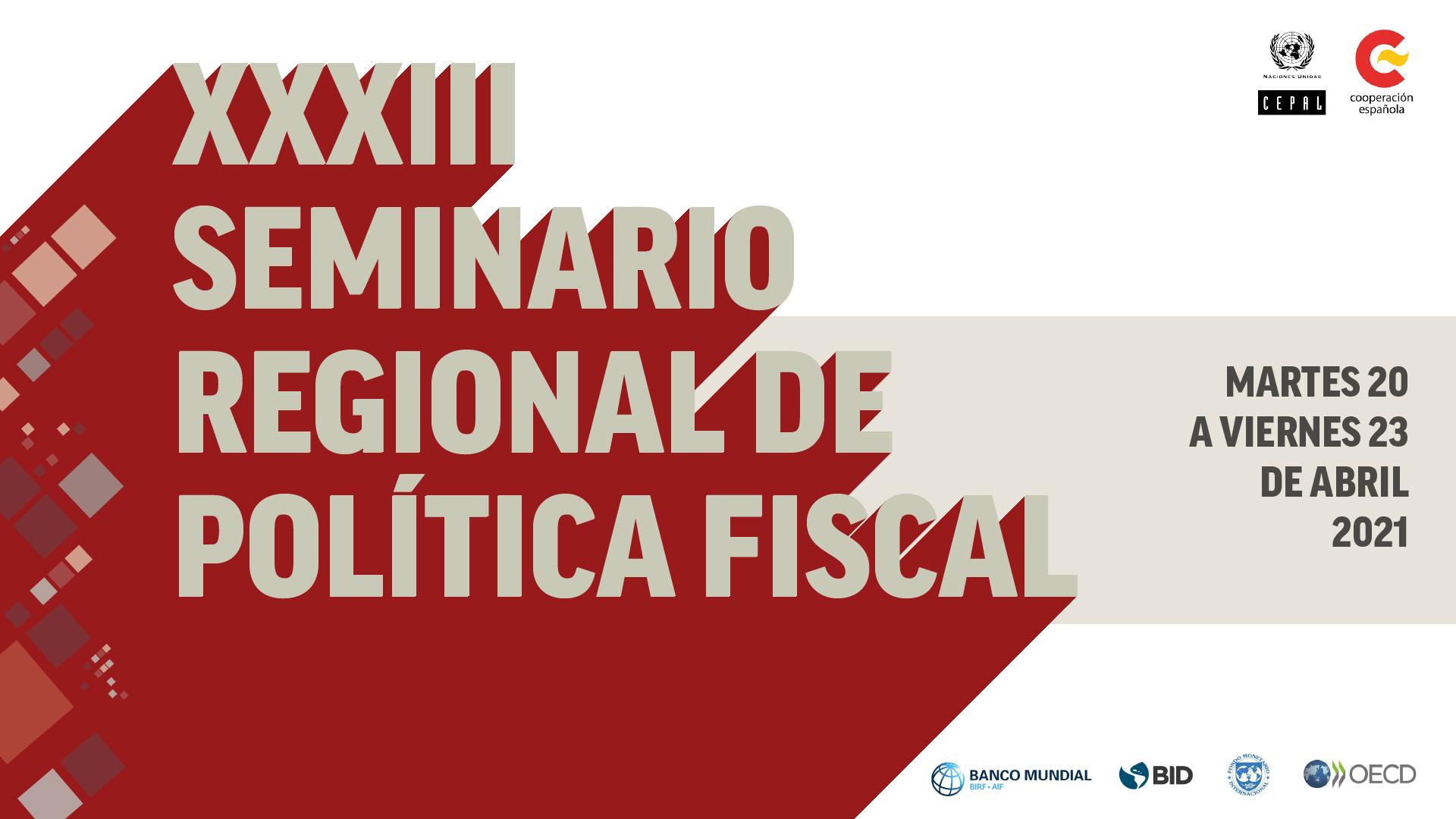 Banner XXXIII Seminario Regional de Política Fiscal