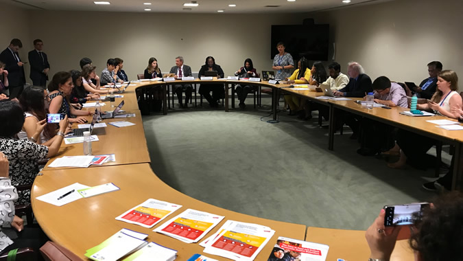 Meeting on the Escazú Agreement, held in New York this Monday 15 July, 2019