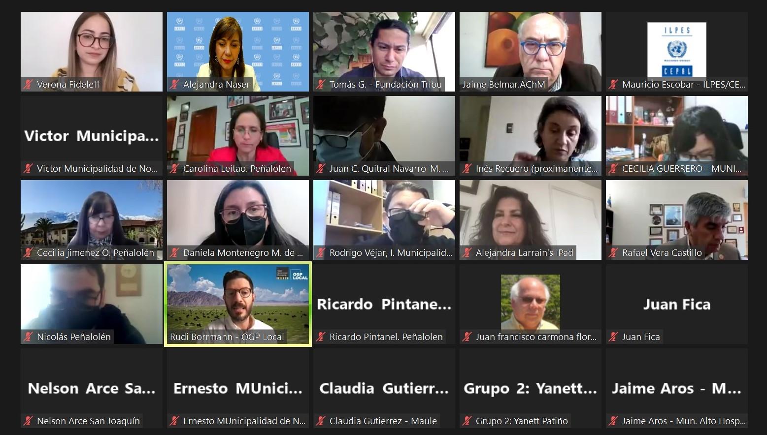 Participantes taller formulación de iniciativas municipales