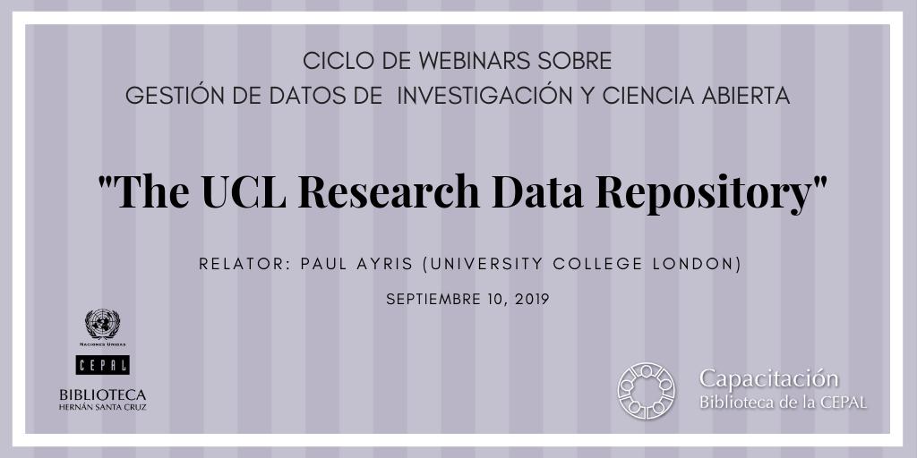 Webinar UCL Research data Repository