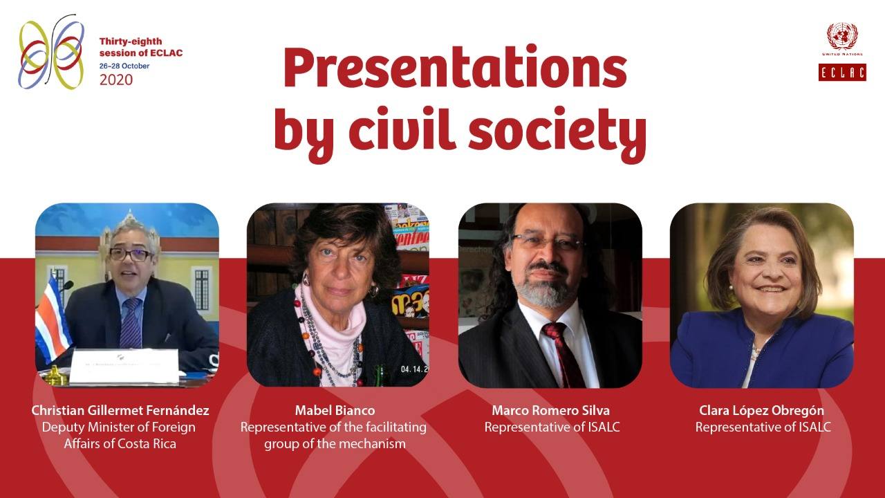 Presentations by civil society