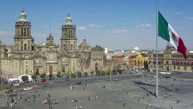 Photo of the Mexican central square