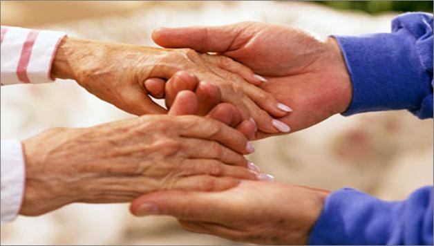 Ageing elderly woman