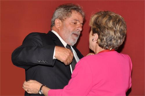 El Presidente de Brasil, Luiz Inácio Lula da Silva, junto a la Secretaria Ejecutiva de la CEPAL, Alicia Bárcena.