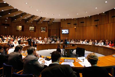 La presentación tuvo lugar en la sala Celso Furtado de la sede de la CEPAL en Chile.