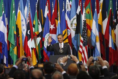 Barack Obama, Presidente de Estados Unidos, entregó su discurso en el Centro Cultural Palacio La Moneda, en Santiago, Chile.