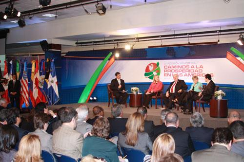 Vista general de la IV Reunión Ministerial de la Iniciativa Caminos a la Prosperidad en las Américas.