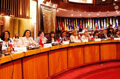Ministras de 19 países de América Latina y el Caribe se reúnen en la CEPAL.