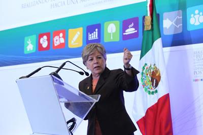 La Secretaria Ejecutiva de la CEPAL, Alicia Bárcena, participó en la apertura de una consulta pública realizada en Guadalajara, México.