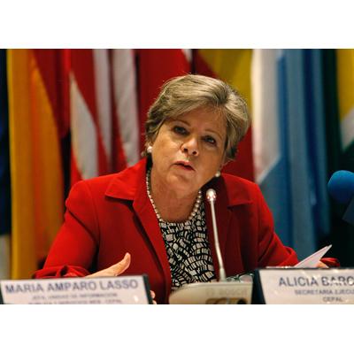 La Secretaria Ejecutiva de la CEPAL, Alicia Bárcena, en una foto de archivo.