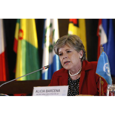 Executive Secretary of the ECLAC, Alicia Bárcena, on a file picture.