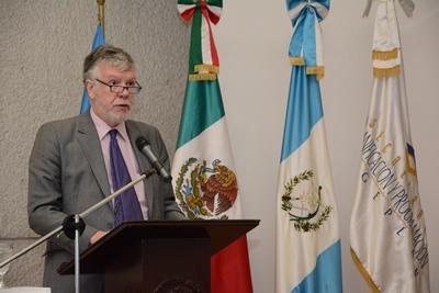 Antonio Prado, Secretario Ejecutivo Adjunto de la CEPAL, encabezó la reunión de la Mesa Directiva del CRP en La Antigua, Guatemala.