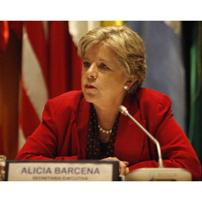 ECLAC Executive Secretary, Alicia Bárcena, on a file picture.