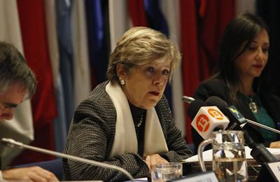 La Secretaria Ejecutiva de la CEPAL, Alicia Bárcena, encabezó la presentación del Estudio Económico de América Latina 2014.