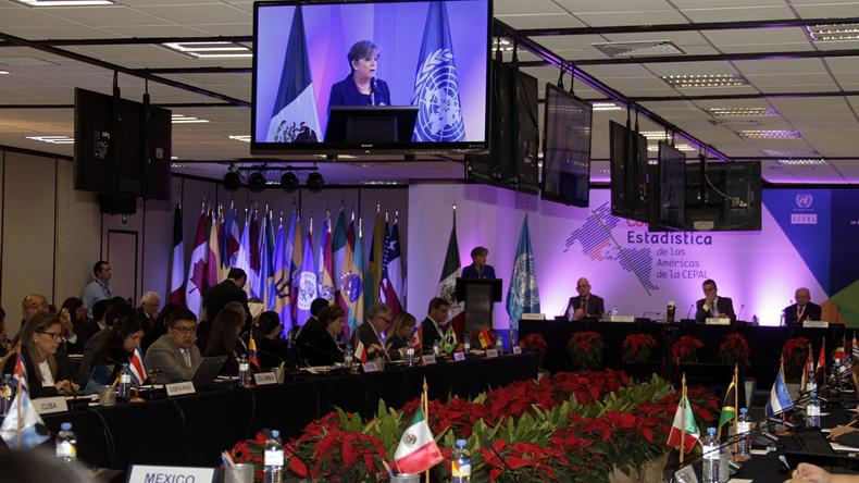 Foto de la inauguración de la CEA-CEPAL