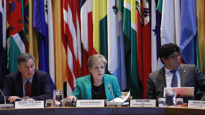 Launch of Preliminary Overview 2018 at ECLAC.