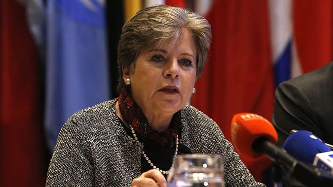 Alicia Bárcena, ECLAC Executive Secretary, during the presentation of the Economic Survey 2017.