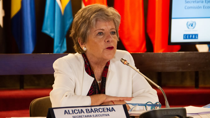 Alicia Bárcena, ECLAC's Executive Secretary.