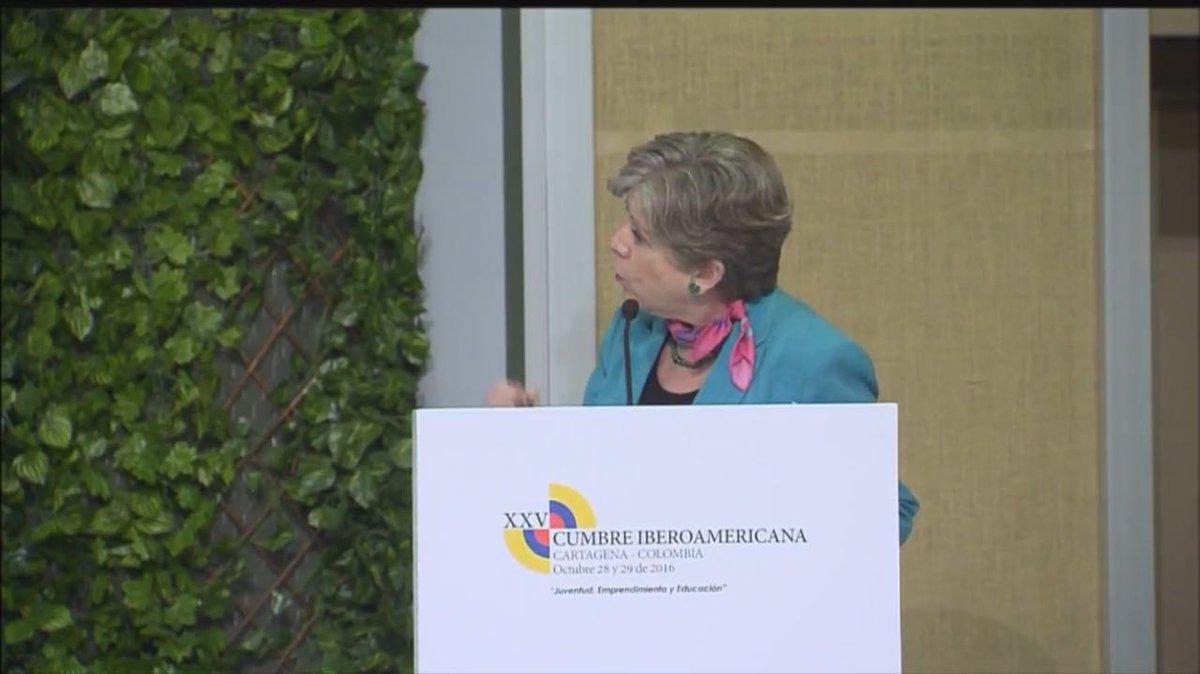 Alicia Bárcena, Secretaria Ejecutiva de la CEPAL en la XXV Cumbre Iberoamericana.
