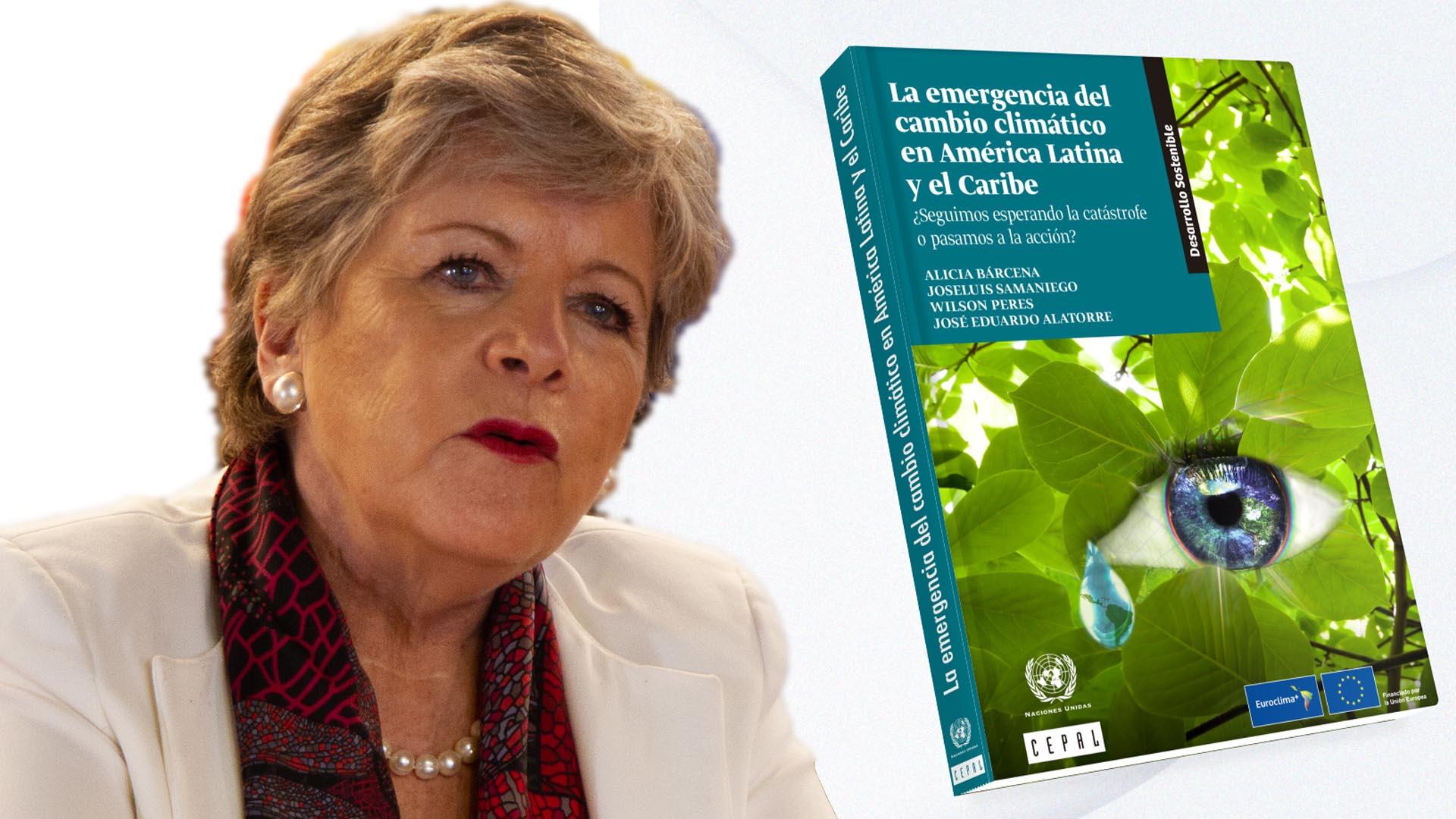 Imagen de Alicia Bárcena, Secretaria Ejecutiva de la #CEPAL y la portada del documento.