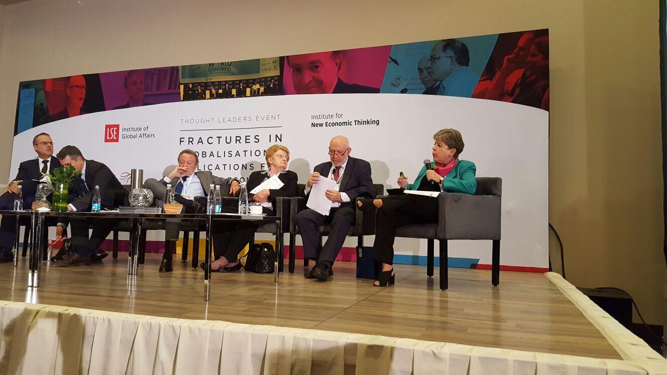 La Secretaria Ejecutiva de la CEPAL, Alicia Bárcena, durante su intervención.