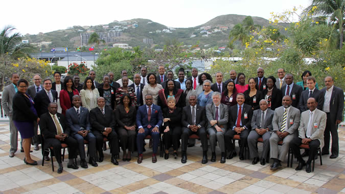 Delegates attending the CDR meeting in Saint Kitts