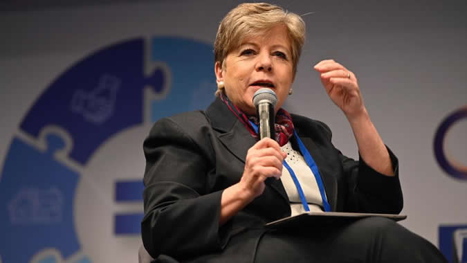 Alicia Bárcena, Executive Secretary of ECLAC, during the 13th International Conference on Development of the French Development Agency (AFD), held in Paris.
