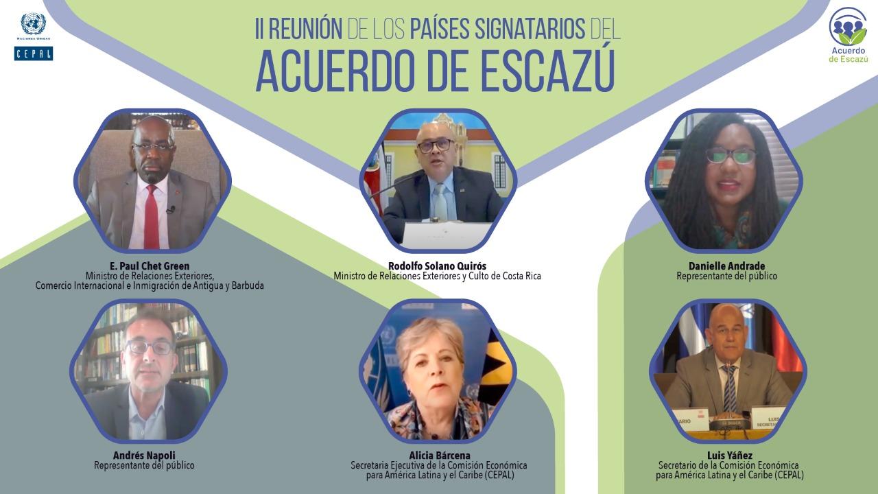 Inauguración de la Segunda Reunión de los Países Signatarios del Acuerdo de Escazú