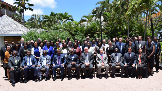 Family photo of the authorities attending the CDR meeting in Saint Lucia
