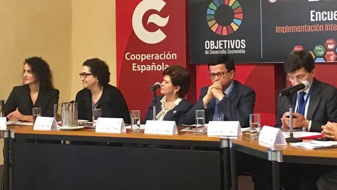 Panel en el que participó Cielo Morales, Directora del ILPES.