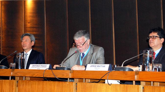 Antonio Prado en discurso