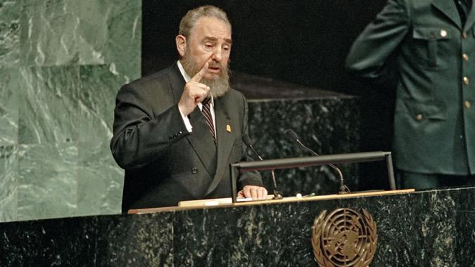 Fidel Castro expone en la Asamblea General de la ONU