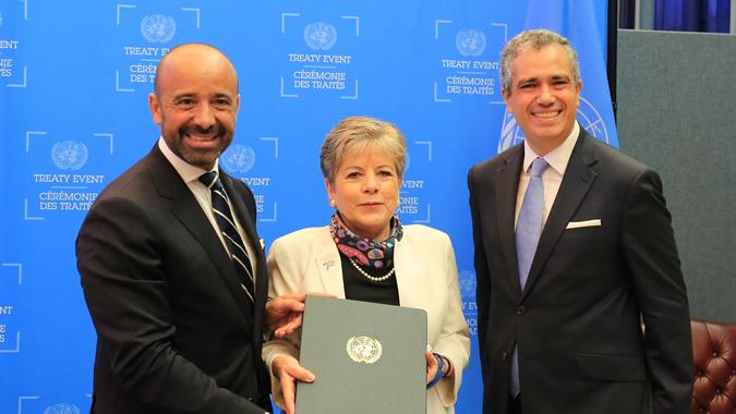 Escazú Agreement signing ceremony