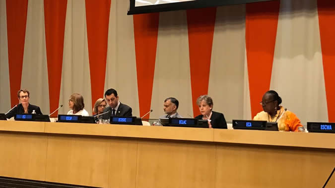 The regional forums provide a platform for frank discussion on the SDGs, Alicia Bárcena pointed out at the event in New York.