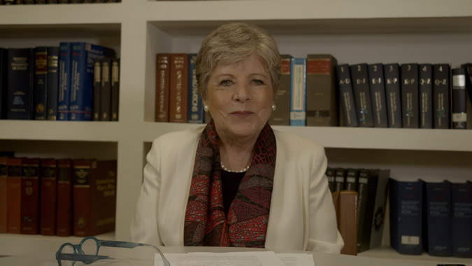 Alicia Bárcena, Secretaria Ejecutiva de la CEPAL, durante la entrevista.