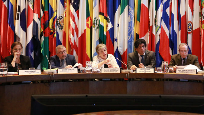 ECLAC Executive Secretary Alicia Bárcena presented the report during a press conference held in Santiago, Chile.