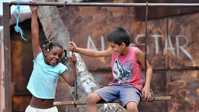 foto de niños jugando
