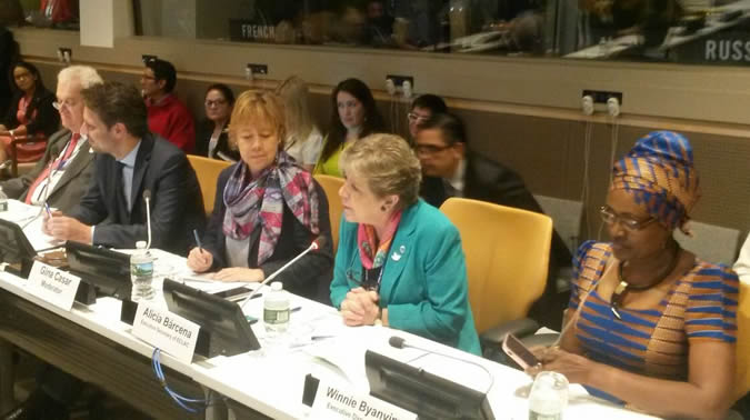 """Alicia Bárcena attends the event """"Tax Havens and a Global Agenda for Tax Justice: A Fair Approach"""" in New York."""