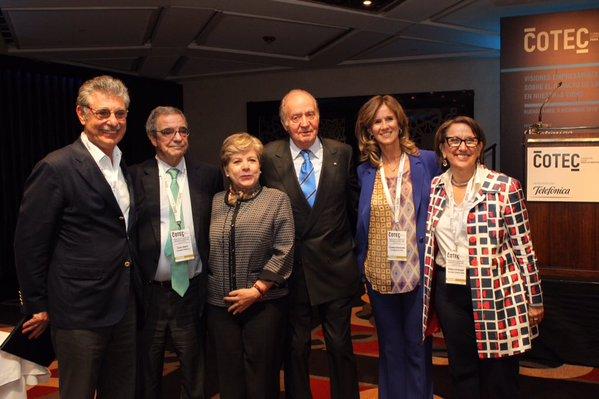 foto de Alicia Bárcena y otros participantes en la jornada sobre innovación organizada por la Fundación COTEC en Buenos Aires.