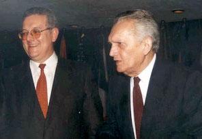 Imagen de Celso Furtado y el Secretario Ejecutivo de la CEPAL José Antonio Ocampo