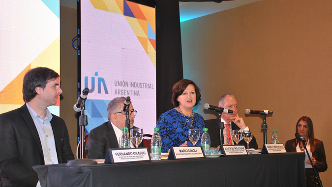 Inauguration panel of the MSMEs seminar held in Buenos Aires, Argentina
