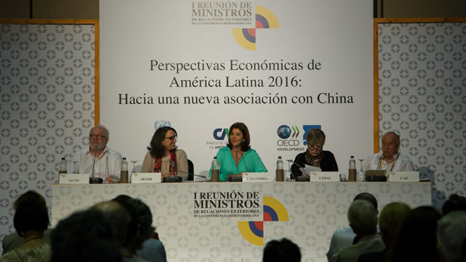 The report was presented in the context of the First Meeting of Foreign Affairs Ministers of the Ibero-American Conference in Cartagena de Indias.