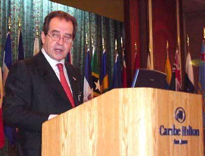 José Luis Machinea, ECLAC Executive Secretary, inaugurated the ECLAC meeting at San Juan, Puerto Rico.